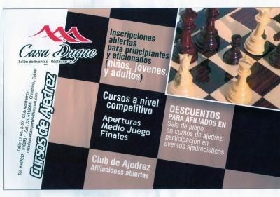 Nuevo Club y cursos de Ajedrez en Chinchiná